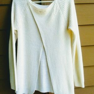 F&F Sweaters - $2 for 10$ F&F knit white open back sweater 10 (M)